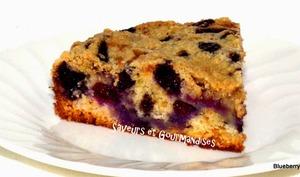 Gâteau aux bleuets ou myrtilles.