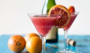 Cocktail à l'orange sanguine et au cidre