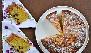 Gâteau pommes / vanille / rhum
