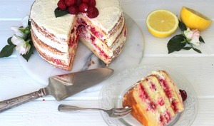 Layer cake citron et framboise