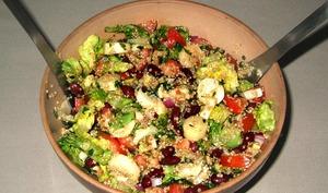 Salade sud américaine au quinoa