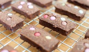 Financiers au chocolat et au Smarties