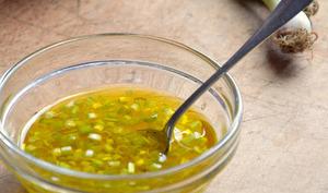 Vinaigrette au miel de citronnier et à l'aillet