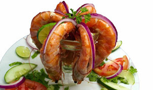 Cocktail de crevettes au pamplemousse