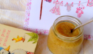 Compote pommes bananes, vanille et citron vert pour bébé