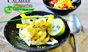 Calamar grillé à la plancha Eno et salsa sucré-salé d'ananas