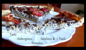 Tarte à la ricotta, aubergines et sardines