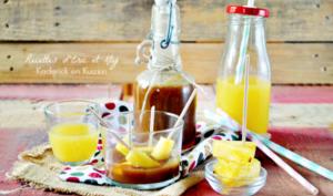 Caramel au beurre salé à l'ananas comme une pâte à tartiner