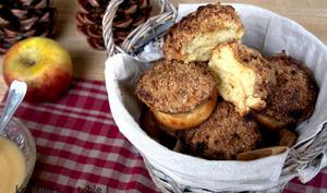 Muffins aux pommes et crumble épicé