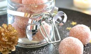 Truffes aux biscuits roses et Kirsch