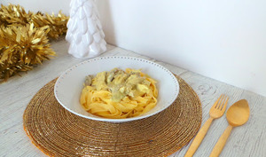 Tagliatelles au chapon et au curry