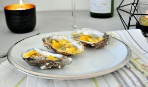Tartare d'huîtres mangue passion