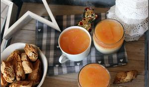 panna cotta à l'ancienne et cantuccini aux amandes