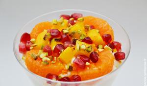 Des desserts de fruits d'hiver