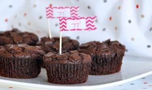 Muffins double chocolat et beurre de cacahuète