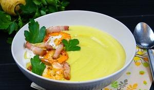 Velouté de panais, curry et coco