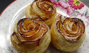 Rose feuilletée aux pommes