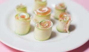 Roulés saumon courgettes
