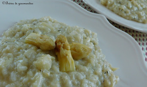 Risotto aux asperges blanches et thym