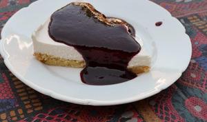 Cheesecake et son coulis aux fruits des bois