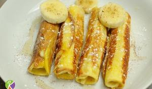 Pains perdus roulés à la banane