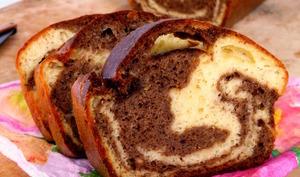 Cake marbré trompe l'oeil