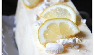 Parfait glacé meringué au citron