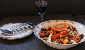 Salade automnal au boulgour et légumes rôtis