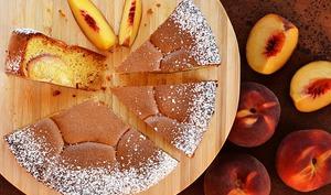 Gâteau pêches / amandes / citron noir