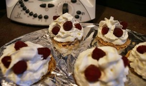 Tartelettes chantilly framboise thermomix