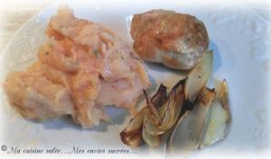 Paupiettes de dinde rôties a l'échalote et purée tomatée
