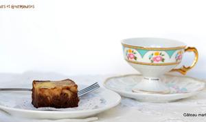 Gâteau marbré chocolat et fromage
