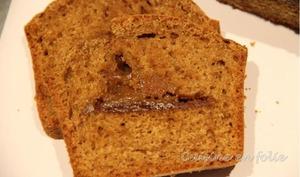 Cake au spéculoos, coeur de pâte de spéculoos
