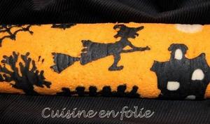 Roulé d'Halloween chocolat-potiron