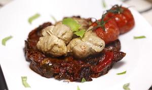 Petites paupiettes de veau et ratatouille confite