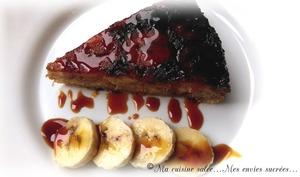 Gâteau renversé à la banane