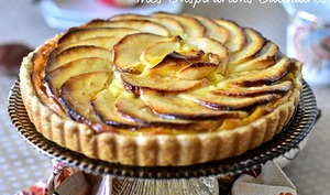 Tarte aux pommes crème pâtissière vanille
