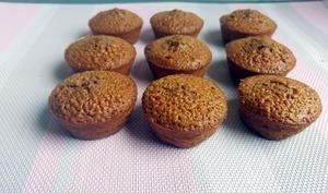 Muffins chocolat au lait note caramélisées