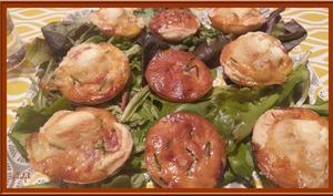 Minis tartelettes au bacon et Chavignol