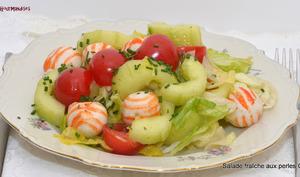 Salade fraîche aux perles Coraya