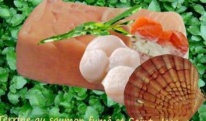 Terrine au saumon fumé et Saint-Jacques ou pétoncles