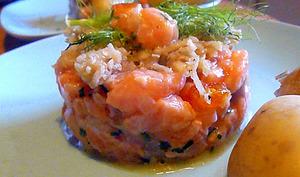 Mon tartare de saumon aux clémentines confites