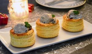 Bouchées au boudin blanc et champignons