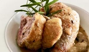 Suprêmes de pintade farcis au foie gras