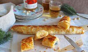 Galette des rois roulée : crème d'amandes et marmelade d'oranges sanguines