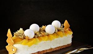 Gat-Ô agrumes, miel de fleur d'oranger, mascarpone, thym