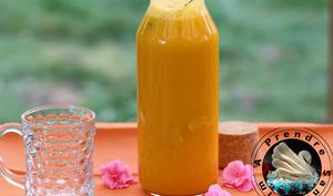 Eau détox mangue gingembre