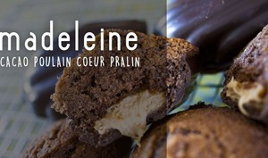Madeleines chocolat Poulain coeur pralin coque chocolat