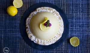 Tarte au citron insert framboises