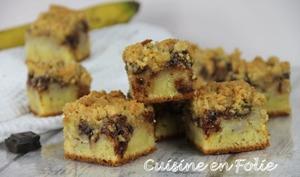 Crumb-cake banane chocolat